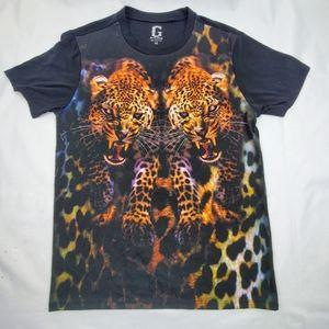 Mens Guess leopard shirt